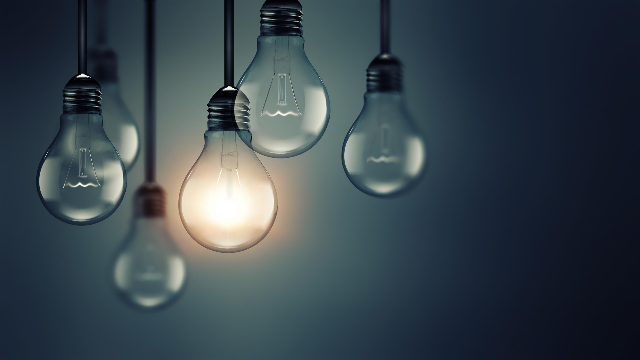 idea, concept, edison bulbs