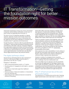 FedScoop report on IT transformation foundational tools and strategy