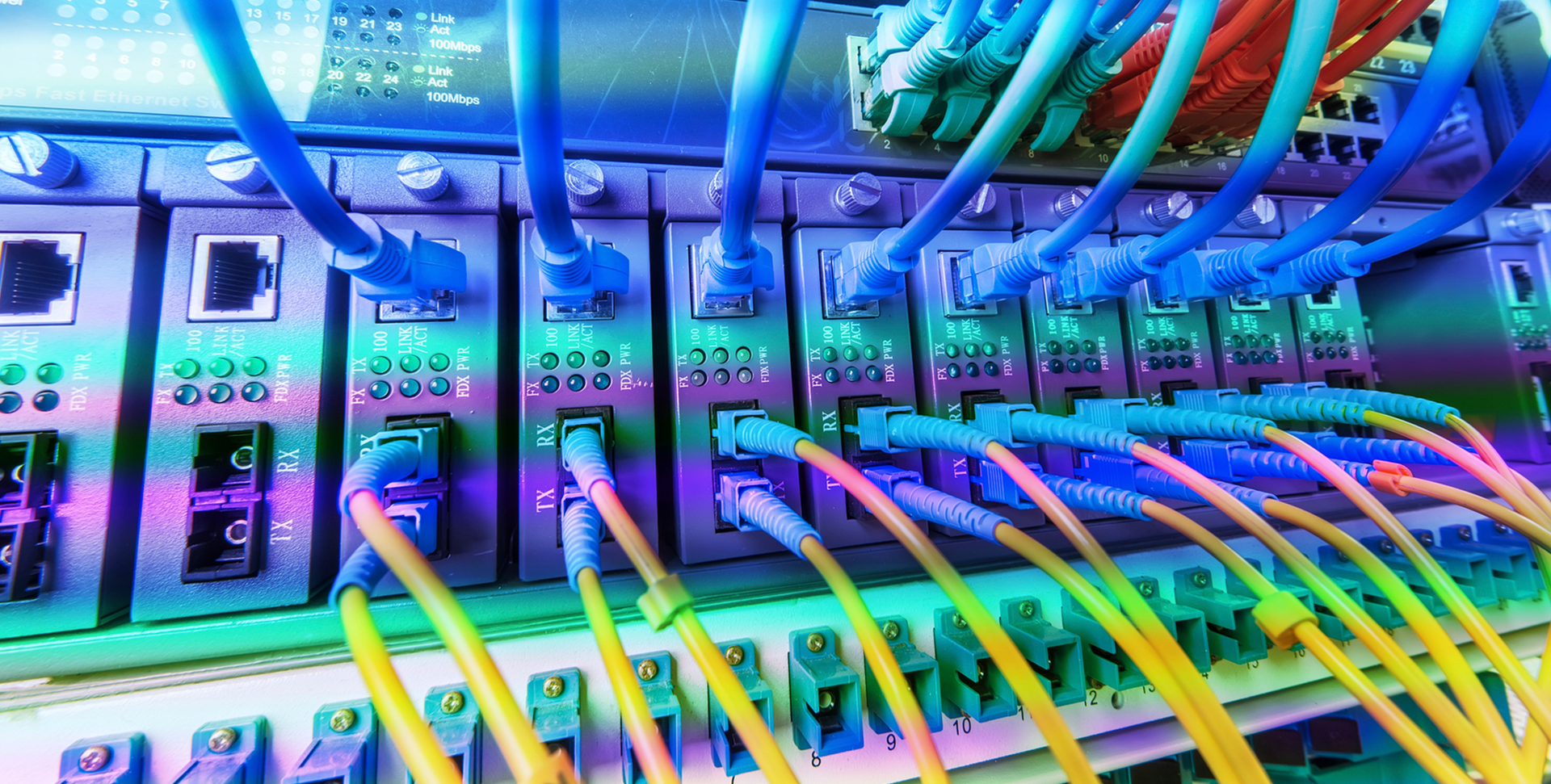 Image depicting server wires for cybersecurity