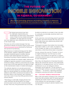 FedScoop report on mobile innovation federal government