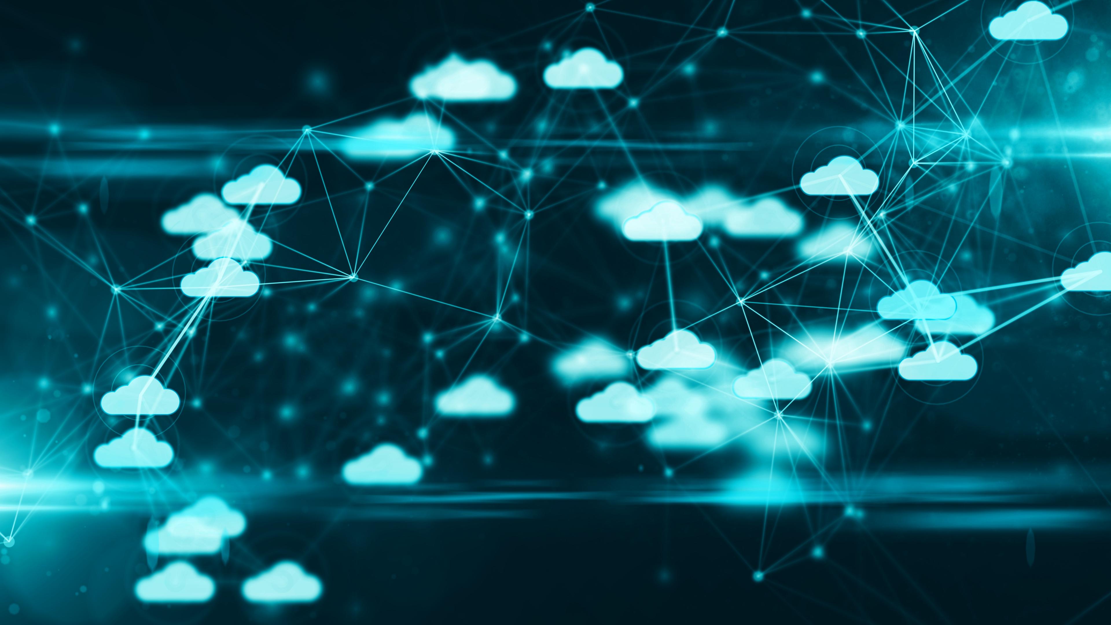 Illustration depicting cloud migration