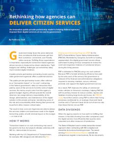 FedScoop report on public-private partnership model to deliver citizen service