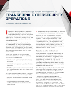 FedScoop, CyberScoop, StateScoop report on cyber intelligence